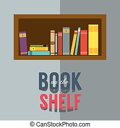 Bookshelf - Bookshelf Graphic Vector Illustration