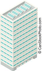 High-Rise Building in Isometric Projection