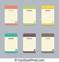Flat Design Colorful Memo.