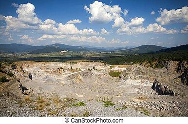 Open pit mine,stone quarry in Transylvania, Romania