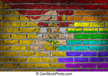 Dark brick wall - Sicily - Dark brick wall texture - flag...
