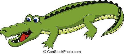 Cute Crocodile walking around