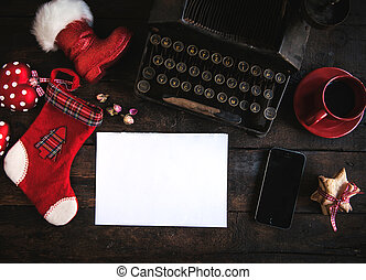 Christmas letter - Blank white paper with Christmas letter...