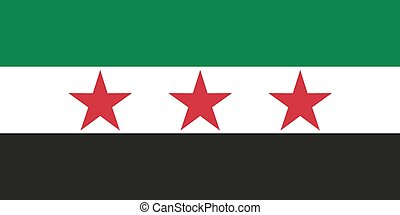 Flag of the Syrian Republic under the French Mandate, as...