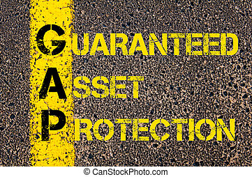 Business Acronym GAP as Guaranteed Asset Protection