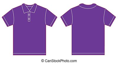Purple Polo Shirt Design Template For Men