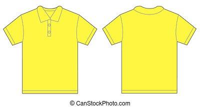 Yellow Polo Shirt Design Template For Men