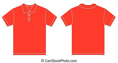 Red Polo Shirt Design Template For Men