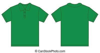 Green Polo Shirt Design Template For Men