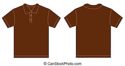 Brown Polo Shirt Design Template For Men