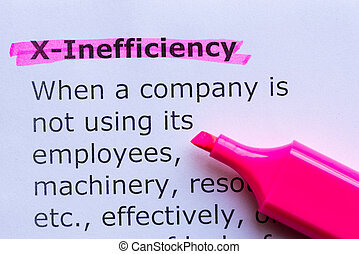 x efficiency  word highlighted on the white background