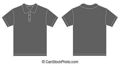 Grey Polo Shirt Design Template For Men