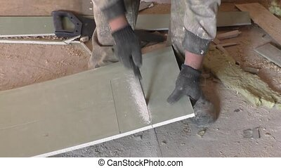 Work saws plaster sheet saw
