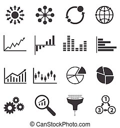 Big Data icon, Business Infographic