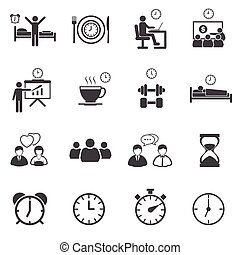 Activity Daily Routine icons set