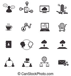 Big Data icons set, Business and so