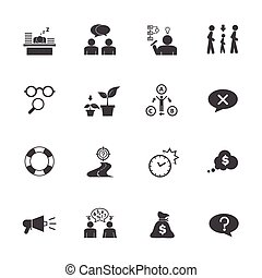 Personality traits - Business icon set, Personality traits