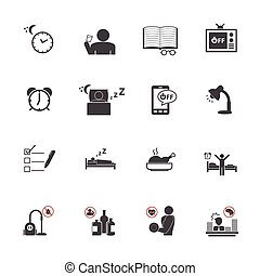 Get Up Early, Daily routine icons - Get Up Early, Daily...