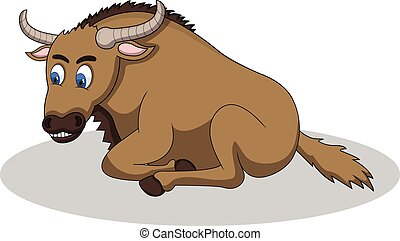 Wildebeest Cartoon Vector Illustration