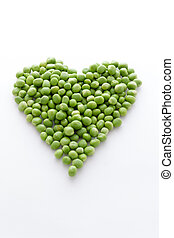 Hearth of biologic delicious green peas