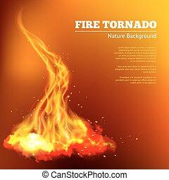 Fire Tornado Illustration