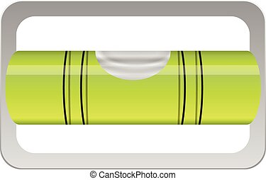 Bubble level on a white background. Vector illustration.