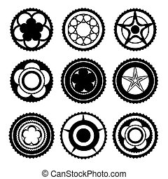Bike Chainring Set - Bike Chainrings and Rear Sprocket. Set...