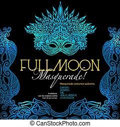 Masquerade Ball Poster - Masquerade ball party invitation...