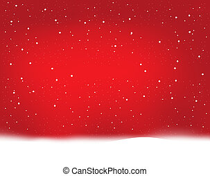 red winter snowflakes
