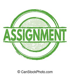 Assignment stamp - Assignment grunge rubber stamp on white,...