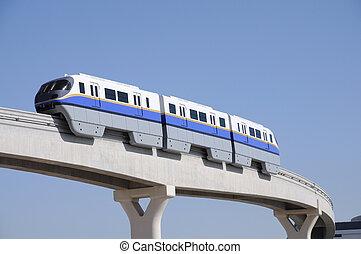 Monorail at the Palm Jumeirah, Dubai United Arab Emirates