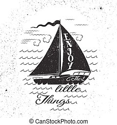 Enjoy the litttle things. Hand drawn inspirational poster....