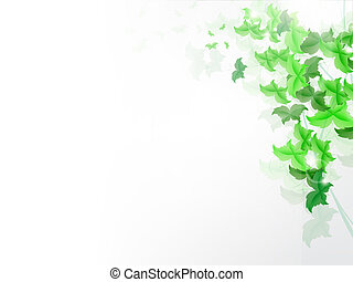 Background with fresh green leaves - background with fresh...