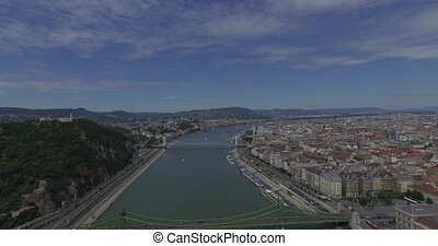 Danube river in Budapest city