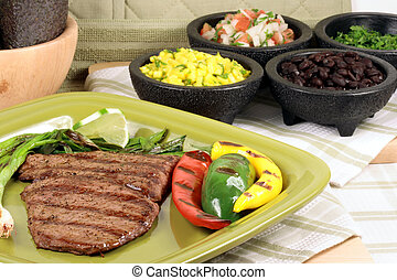 mexican Juicy beef grilled to perfection thick and flavorful...