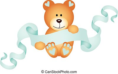Teddy bear boy - Scalable vectorial image representing a...
