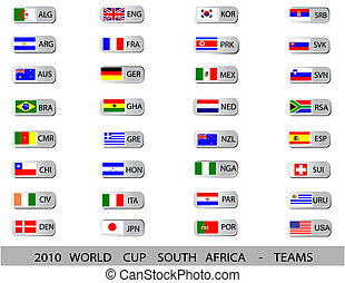 2010 World Cup South Africa - TEAMS