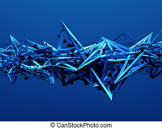 Abstract 3D Rendering of Chaotic Structure. - Abstract 3d...
