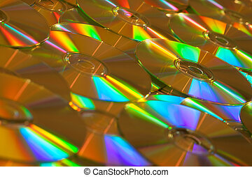 Golden Data CDs or DVDs Background Image.