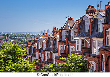Brick houses of London, UK - Brick houses of Muswell Hill...
