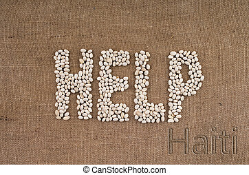 White bean on texture - Word from bean help for Haiti...