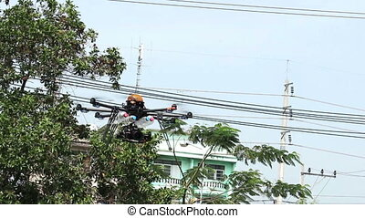 RC Helicopter Fly up in the air - Man forced Helicopter...