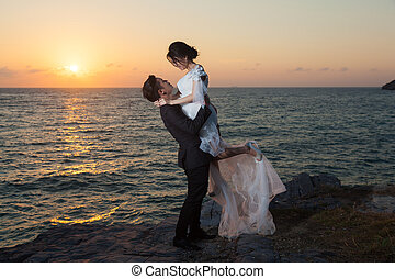 Romantic Couple at sunset.