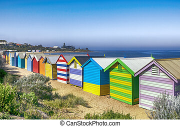 Brighton Beach Bathing Boxes - Brighton Beach bathing boxes,...