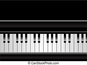 Piano - Editable vector piano background with space for your...