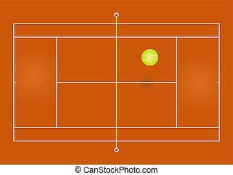 Tennis court - Vector illustration of a tennis court