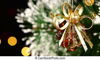 Christmas decoration like shell - a crystalline brown toy on...
