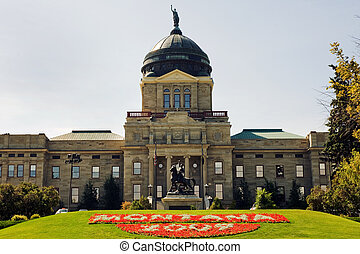 Montana Capitol - View of Montana State capitol in Helena