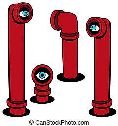Spy Scope Set - Spy scope set isolated on a white...