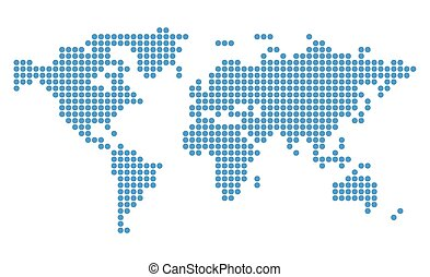 abstract blue vector map of world